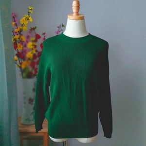 Wilfred Free Green Waffle Knit Crewneck Sweater